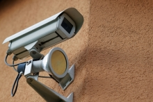 Security Camera on building. Copyright: Ervins Strauhmanis