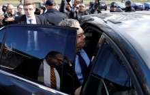 U.S. Senator Al Franken (D-MN) leaves after announcing his resignation