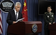 Secretary of Defense Chuck Hagel in press conference