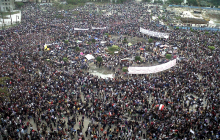 """""""Tahrir Square during Friday of Departure"""" by (Mona sosh)"""