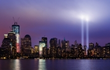 Twin Tower Spotlights