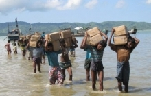 One IDP camp near Sittwe can only be accessed by sea with boats transporting vital aid supplies such as rice and cooking oil.