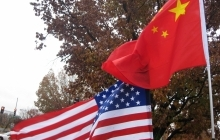 Chinese and American Flags, Copyright: futureatlas.com