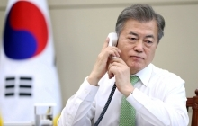 What President Moon may look like after a call with Kim