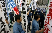 protesters in Asia face off against police