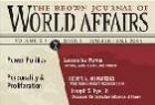 The Brown Journal of World Affairs Journal Cover