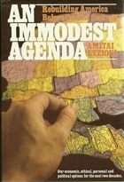 An Immodest Agenda book cover