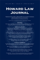 Howard Law Journal Cover