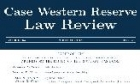 Case Western Reserve Law Review Journal Cover