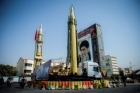 A 2017 Tehran display of missiles and Iran Supreme Leader Ayatollah Ali Khamenei